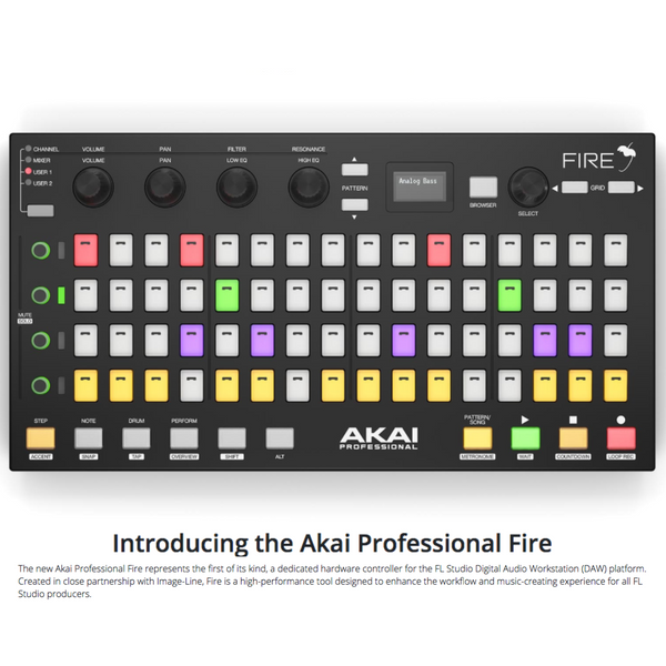 Akai Fire Controller for FL Studio Shipping with MSXII Sounds