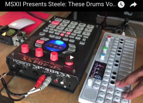SP404x and OP-1 Using Steele These Drums 2