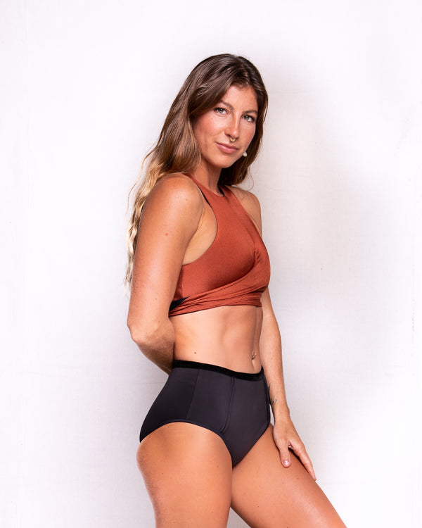 Illuvia swimwear Wrap Top • Rust