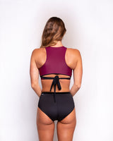 Illuvia swimwear Wrap Top • Merlot