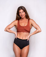 Ua Swimwear Wrap Top • Rust