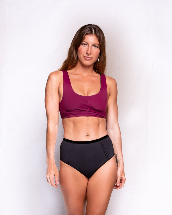 Ua Swimwear Wrap Top • Merlot