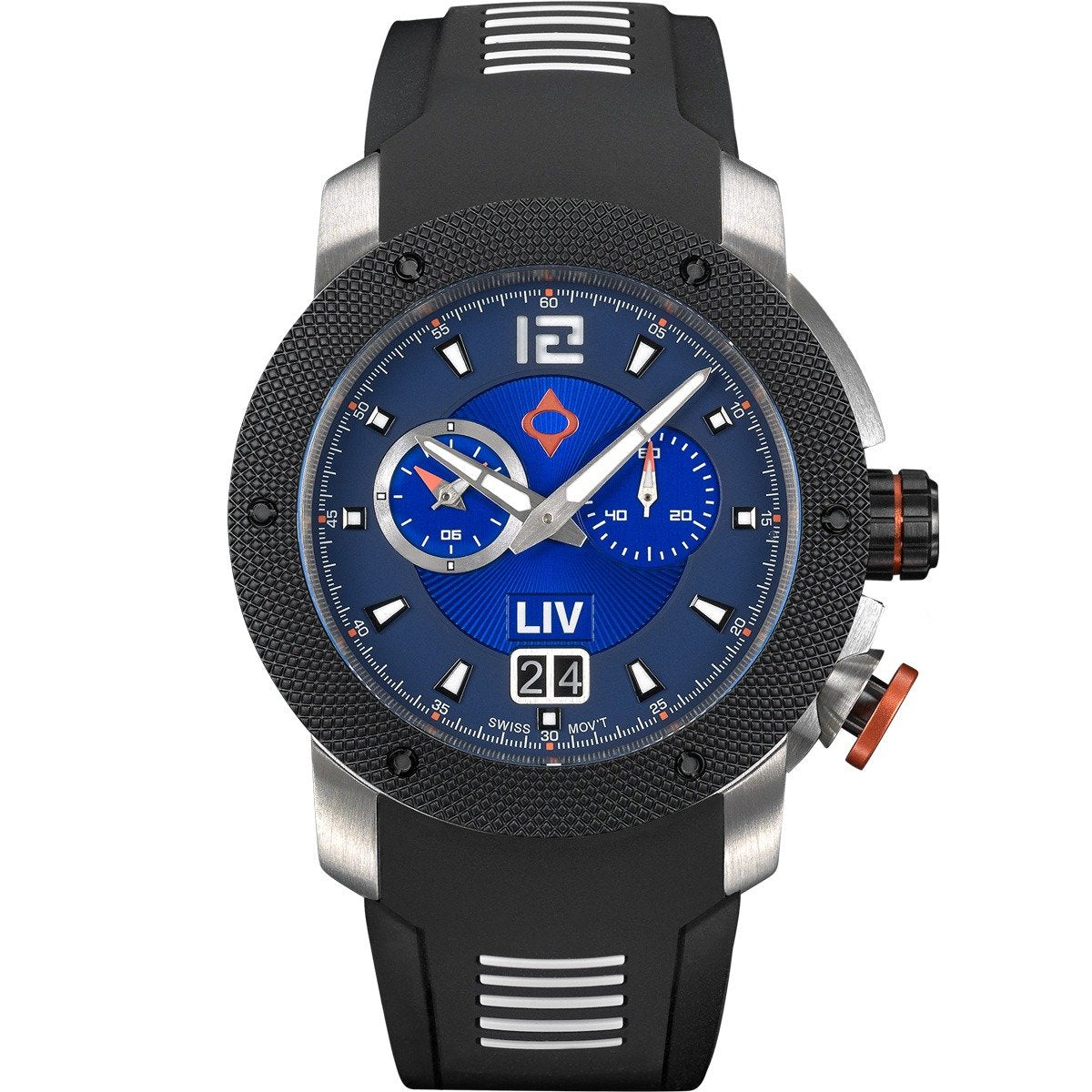 LIV GX Analog Alarm Blue Limited Edition - LIV Swiss Watches