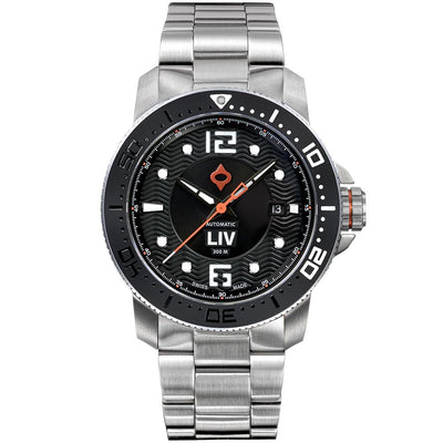 LIV Diver's 41mm Classic Black - LIV Swiss Watches