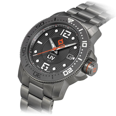 LIV Diver's 41mm Gray - LIV Swiss Watches