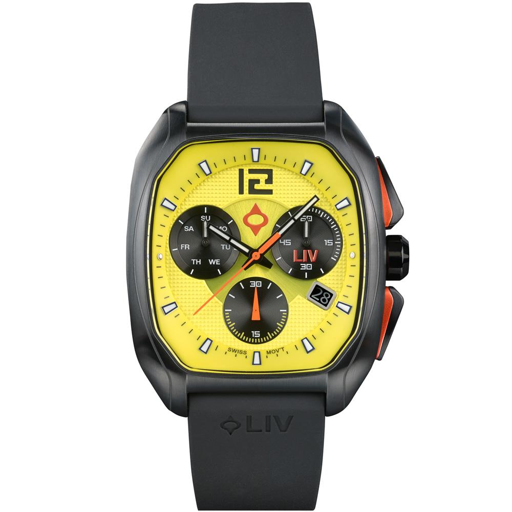 LIV Rebel-DDC Venom Yellow - LIV Swiss Watches