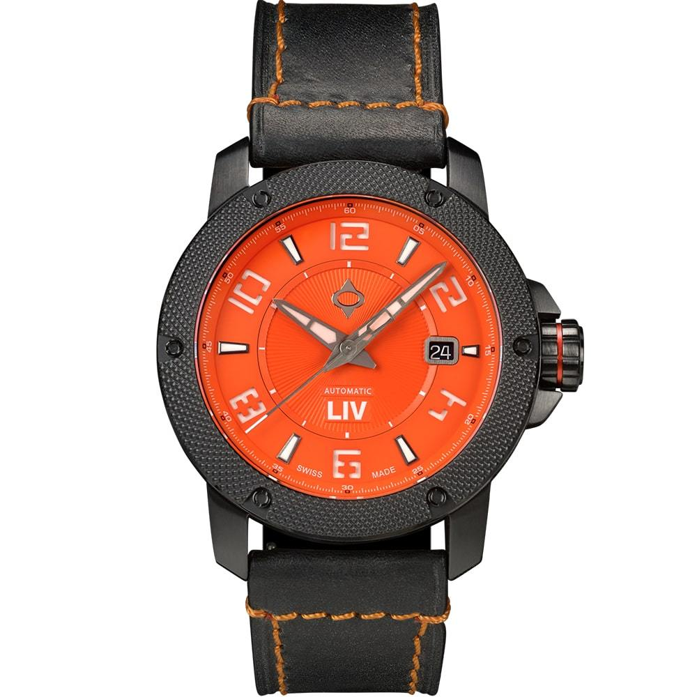 LIV GX1-A Full Orange - LIV Swiss Watches