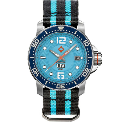 LIV Diver's 41mm T.J. Blue - LIV Swiss Watches