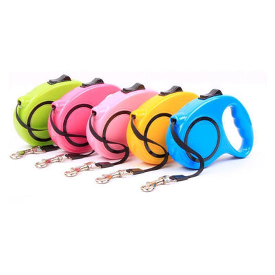 IHRneer Dog Walking Lead Leash Automatic Traction Rope (5 colors & 2 sizes)