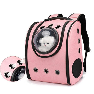 IHRneer PU Backpack Space Capsule Small Cat carrying (4 colors)