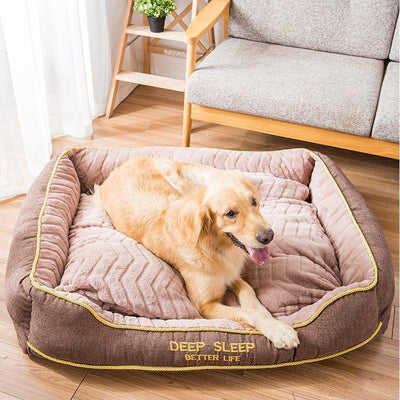 IHRneer Thick Thermal Large Dog Bed (2 colors & 4 sizes)