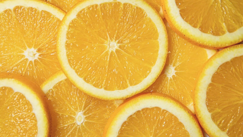 sliced orange layering on each other