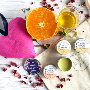 juste nature lip balms