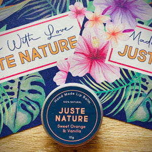 SWEET ORANGE AND VANILLA LIP BALM FOR MEN BY JUSTE NATURE