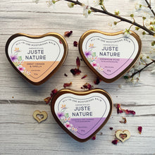 Load image into Gallery viewer, Juste Nature ROSE GOLD HEART MOISTURISING BALM TINS