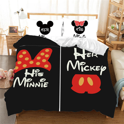 Housse de Couette Mr & Mrs Mickey