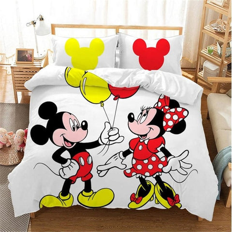 Housse de Couette Mickey Minnie Adulte