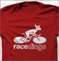 Red Tee Cyclist Unisex
