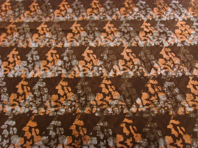 Coupon tissu patchwork 60x50cm - marron, saumon, blanc - PBKBZ17