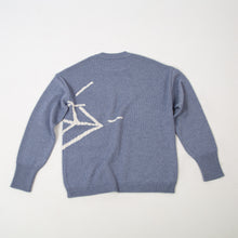 Load image into Gallery viewer, Oversized Intarsia knitted sweater |STONER BLUE