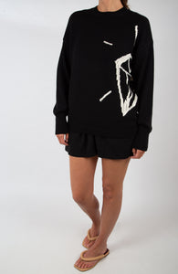 Oversized Intarsia knitted sweater |BOLD