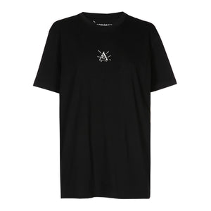 Oversized Third-Eye Embroidered Tee|BLACK