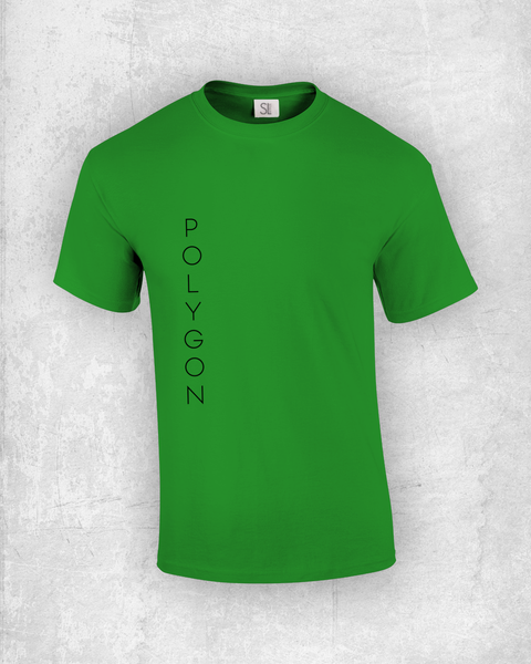 Polygon Vertical, Typo T-Shirt