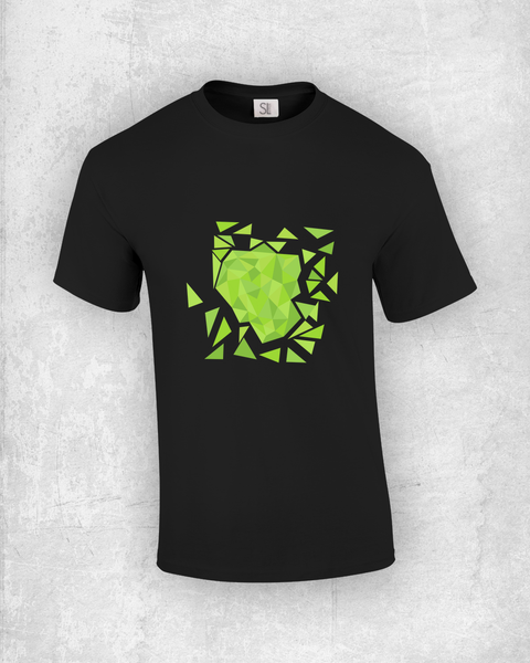 Green Triangles Explosion T-Shirt