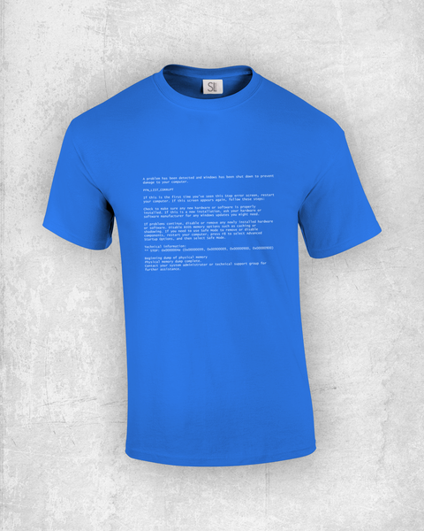 Blue Screen of Death T-Shirt (BSoD)