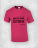 If you're offered a seat on a rocket ship, don't ask what seat! Just get on. - Sheryl Sandberg - Quote T-Shirt Design