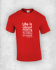 Life is about making an impact not making an income - Kevin Kruse - Quote T-Shirt Design