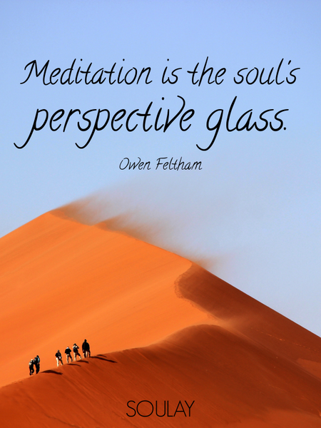 Meditation is the soul's perspective glass. (Poster)
