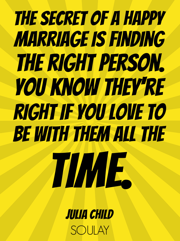 Rig Quote | The Secret Of A Happy Marriage Is Finding The Right Person You Know
