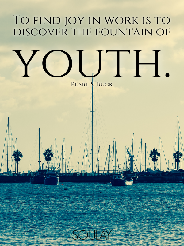 To Find Joy In Work Is To Discover The Fountain Of Youth Poster