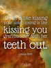 If a tie is like kissing your sister, losing is like kissing you gr... - Quote Poster