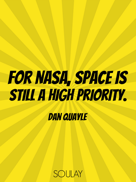 For NASA, space is still a high priority. (Poster)