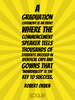 A graduation ceremony is an event where the commencement speaker te... - Quote Poster