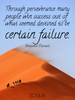 Through perseverance many people win success out of what seemed des... - Quote Poster