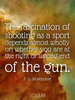 The fascination of shooting as a sport depends almost wholly on whe... - Quote Poster