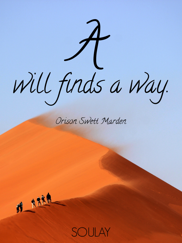 A will finds a way. - Quote Poster