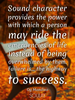 Sound character provides the power with which a person may ride the... - Quote Poster