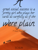 A great social success is a pretty girl who plays her cards as care... - Quote Poster