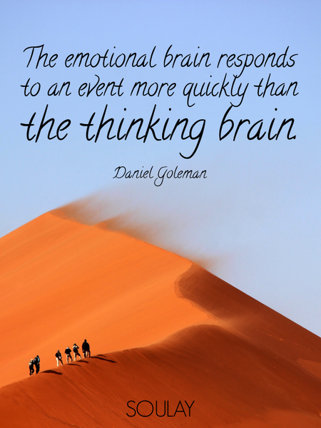 The emotional brain responds to an event more quickly than the thinking brain. (Poster)