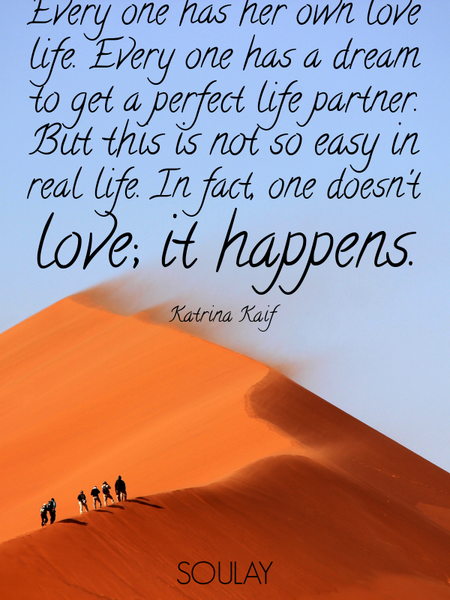 Every one has her own love life. Every one has a dream to get a perfect life partner. But this is... (Poster)