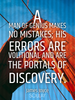 A man of genius makes no mistakes; his errors are volitional and ar... - Quote Poster