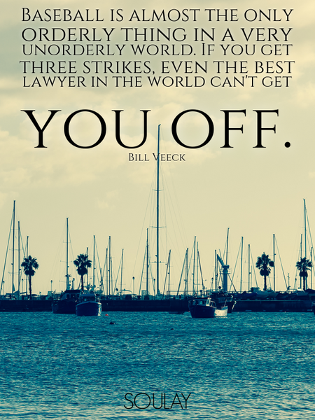 Baseball is almost the only orderly thing in a very unorderly world. If you get three strikes, ev... (Poster)
