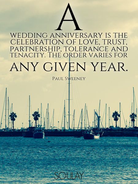 A wedding anniversary is the celebration of love, trust, partnership, tolerance and tenacity. The... (Poster)