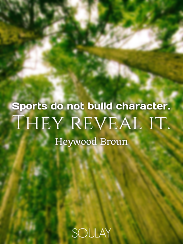 how sports build character