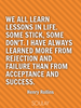 We all learn lessons in life. Some stick, some don't. I have always... - Quote Poster