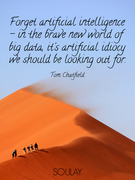 Forget artificial intelligence - in the brave new world of big data, it's artificial idiocy we sh... (Poster)